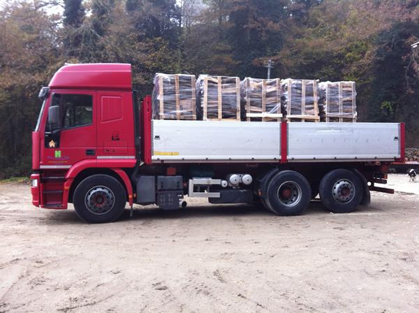 Camion trasporto legna